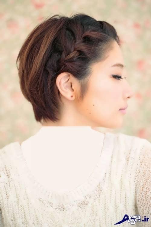 مدل بافت موی ساده و زیبا زنانه