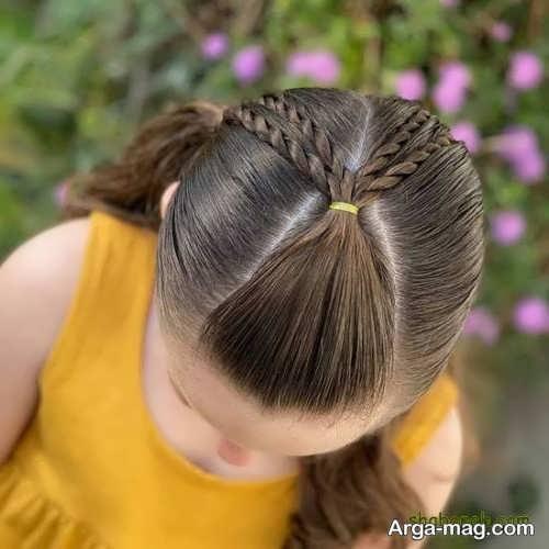 بافت مو ساده بچگانه
