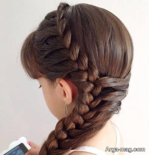 بافت مو ساده زیبا