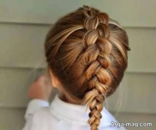 بافت موی ساده کودکانه