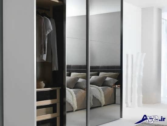 کمد دیواری زیبا با در کشویی