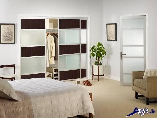 طرح زیبای کمد دیواری کشویی برای اتاق خواب