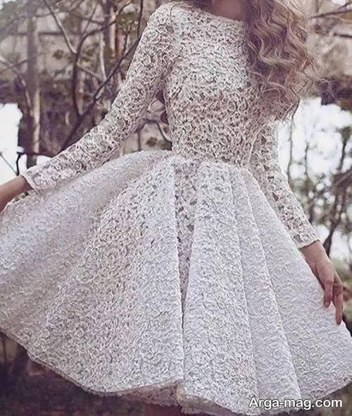 لباس مجلسی دخترانه گیپور