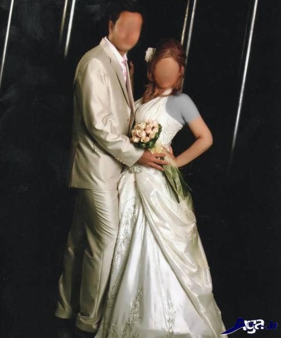 ژست جالب برای عکس عروس و داماد