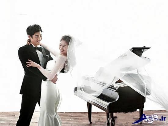 ژست عکس زیبای عروس و داماد