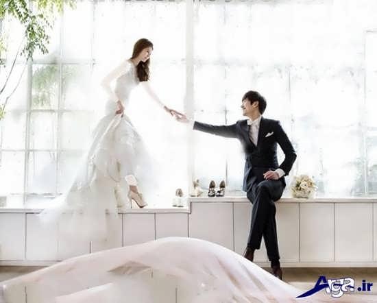 فیگور عروس و داماد در آتلیه
