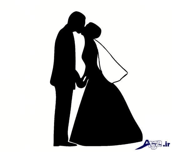 ژست آتلیه برای عروس و داماد