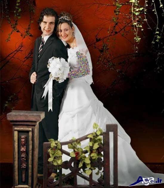 مدل ژست عکس عروس و داماد