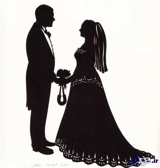 ژست عکس دونفره عروس و داماد