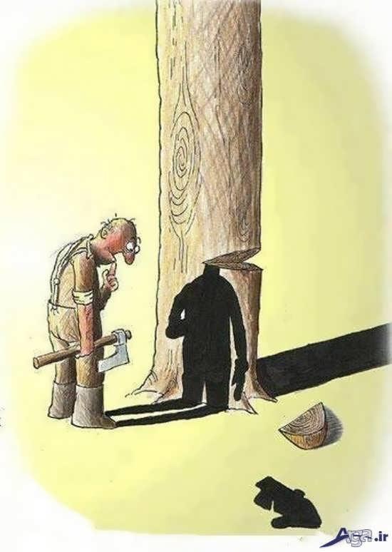 کاریکاتورهای مفهومی و قابل توجه
