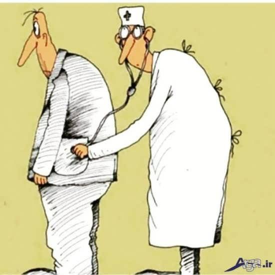 کاریکاتور مفهومی جالب با طنز اجتماعی