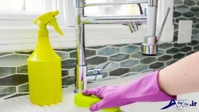 تمیز کردن شیرآلات در خانه تکانی