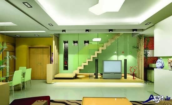 طرح مدرن دکوراسیون خانه دوبلکس