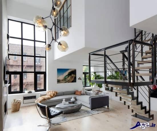 دکوراسیون داخلی زیبا و شیک خانه های دوبلکس