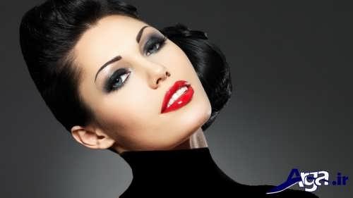 مدل زیبا و متفاوت آرایش صورت زنانه