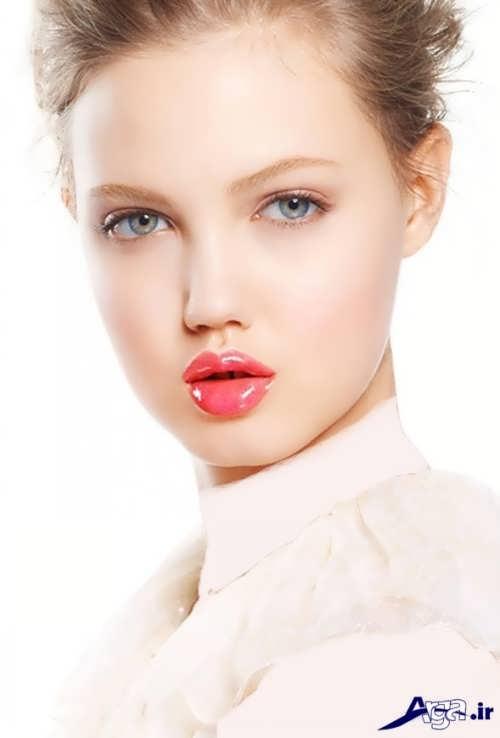 مدل آرایش صورت ملایم دخترانه