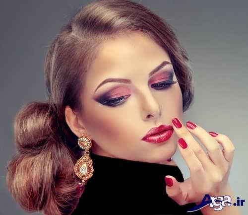 مدل آرایش صورت ملایم زنانه