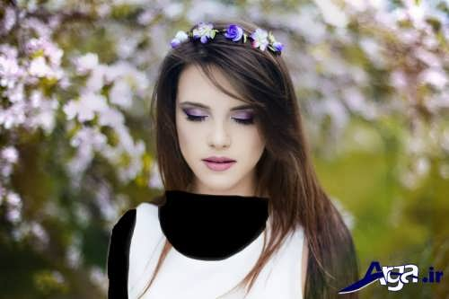 مدل آرایش زیبا و متفاوت زنانه