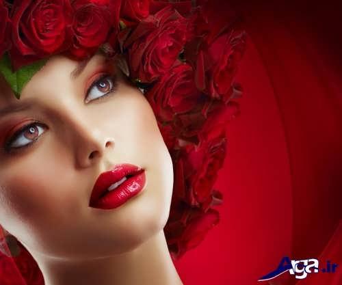 مدل آرایش زیبا و ملایم زنانه