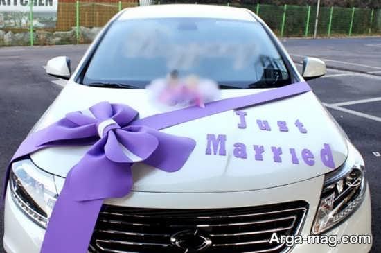 تزیینات جذاب ماشین عروس با پاپیون