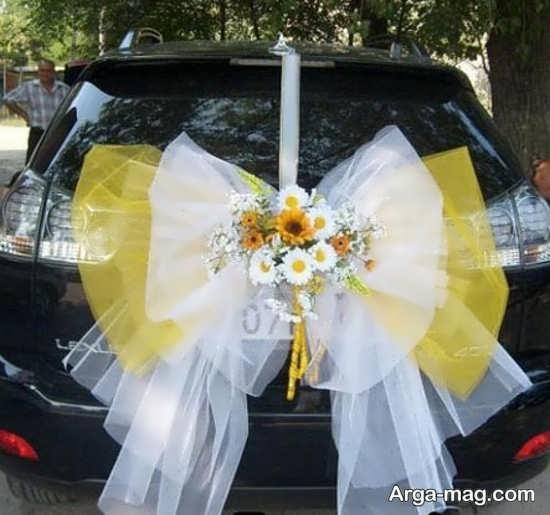 انواع تزیینات ماشین عروس با پاپیون