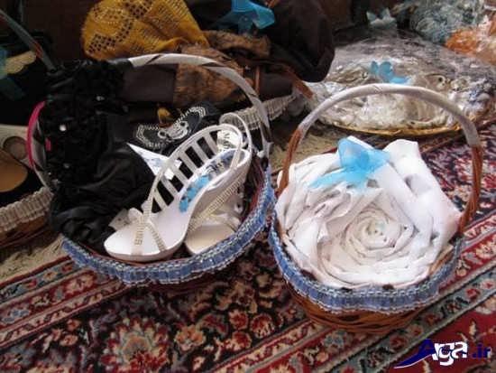 تزیین چادر عروس به شکل گل