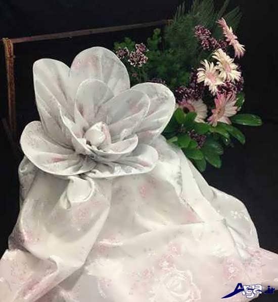تزیین چادر عروس زیبا به شکل گل