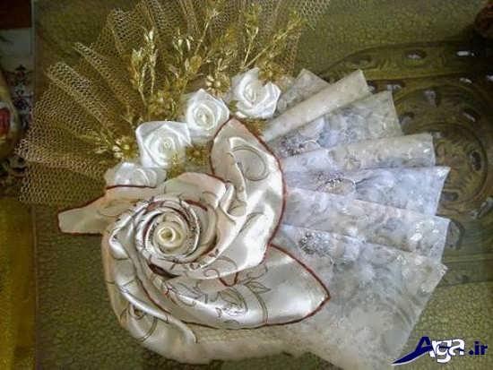 تزیین چادر سفید عروس