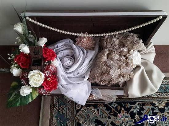دیزاین چادر عروس در صندوقچه