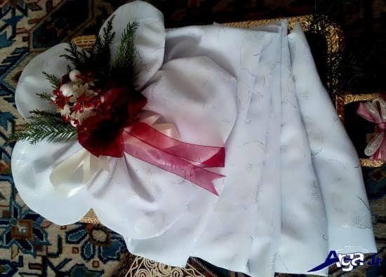 تزیین ساده چادر عروس