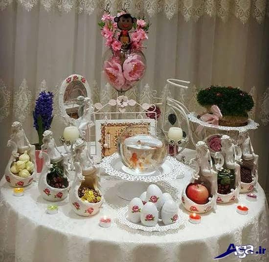 چیدمان میز هفت سین برای عروس