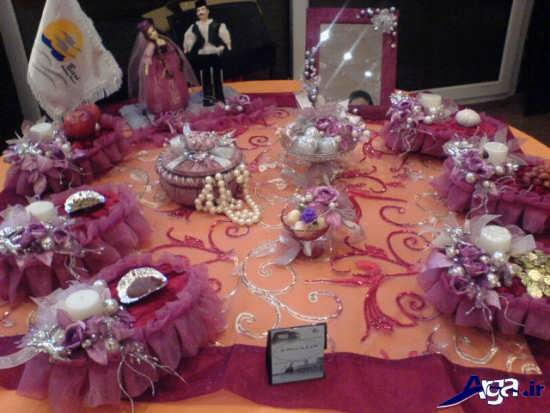 تزیین زیبای سفره هفت سین عروس