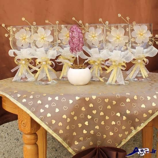 تزیین ظروف هفت سین برای عروس