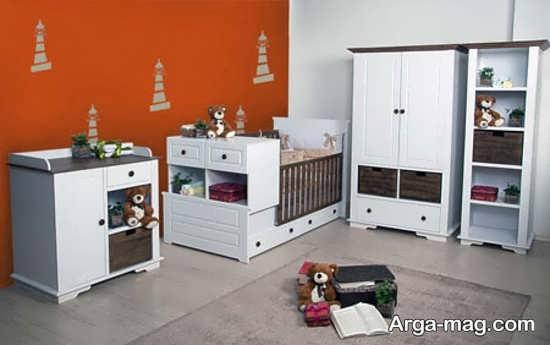 مدل سفید تخت و کمد نوزادان