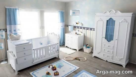 مدل تخت و کمد نوزاد چوبی