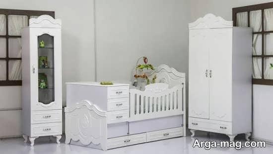 تصاویری از تخت و کمد نوزادان