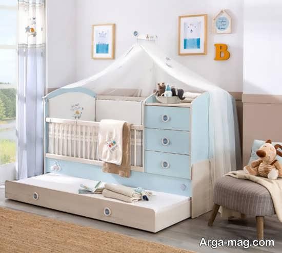 مدل تخت و کمد نوزادان مدرن