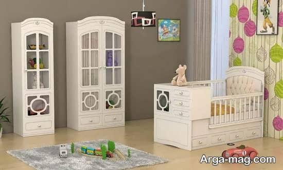مدل تخت و کمد نوزاد جدید