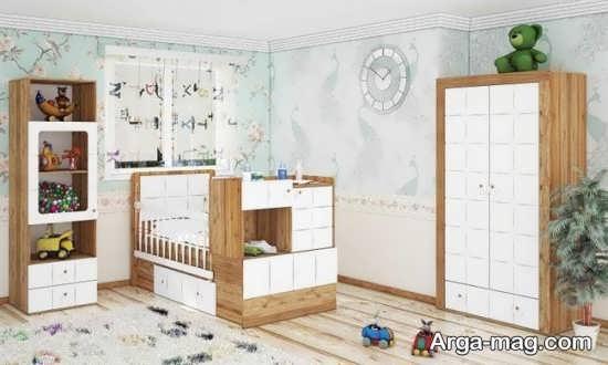 مدل تخت و کمد نوزادان mdf