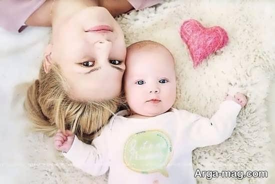 ژست عکسی زیبا از نوزادان