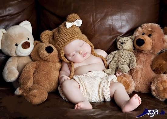 ژست زیبای عکس نوزاد