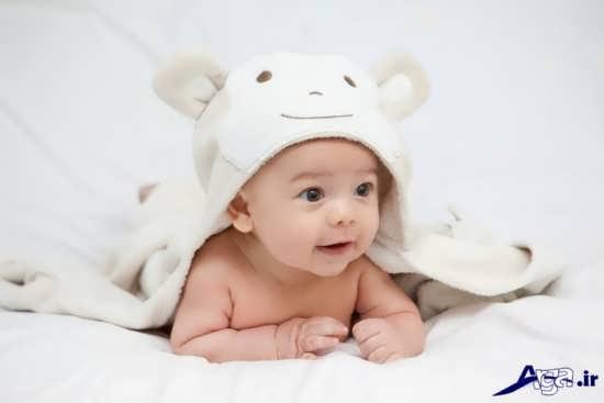 ژست دیدنی عکس نوزاد