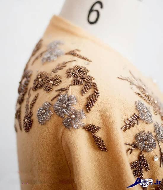 تزیین سرشانه لباس با منجوق