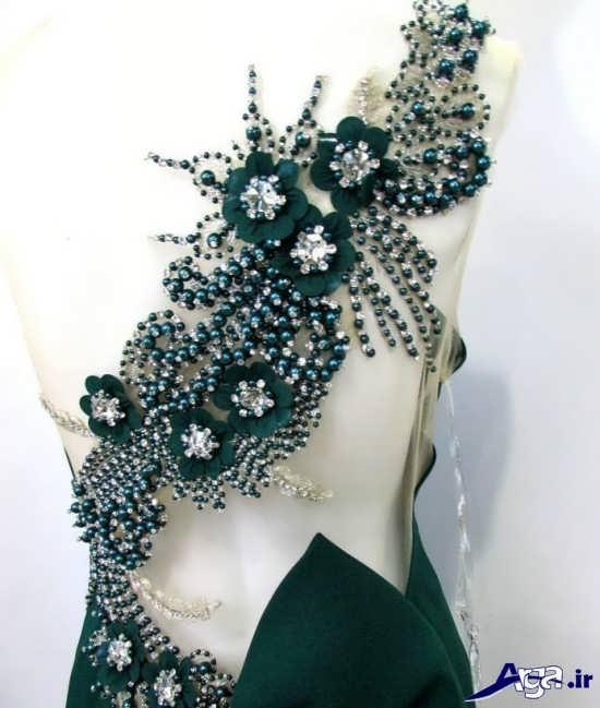 تزیین شیک و زیبای لباس مجلسی
