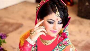 مدل آرایش عروس هندی برای افراد با صورت های مختلف