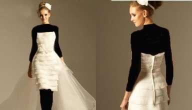 مدل لباس عروس کوتاه دنباله دار