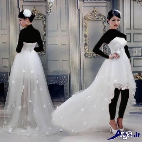 مدل لباس عروس با طرح کوتاه