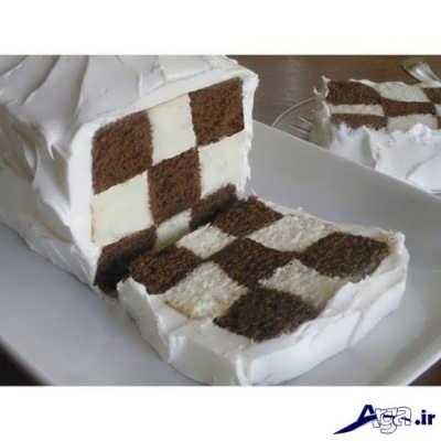 طرز تهیه کیک شطرنجی خوشمزه