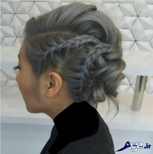 مدل شینیون با بافت مو زنانه