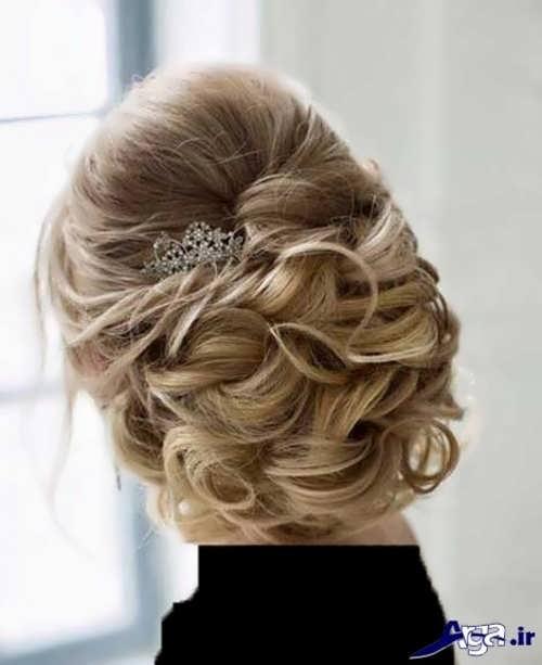 آرایش مو پرنسسی شیک عروس